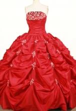 Pretty Ball gown Strapless Floor-length Taffeta Quinceanera Dresses Style FA-W-361
