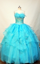 Romantic Ball gown Strapless Floor-length Quinceanera Dresses Style FA-W-246