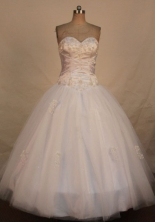 Simple Ball Gown Sweetheart Floor-length Appliques Quinceanera dress Style FA-L-392