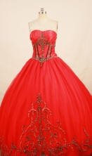 Sweet Ball gown Strapless Floor-length Quinceanera Dresses Style FA-W-277