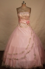 The Most Popular Ball Gown Strapless Floor-length Quinceanera dress TD2418