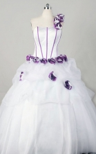 Wonderful Ball Gown One Shoulder Floor-length Organza Quinceanera Dresses Style FA-W-355