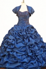 Wonderful Popular Ball Gown Strapless Floor-length Taffeta Quinceanera Dresses Style FA-W-374