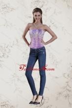 2015 Fashionable Strapless Multi Color Corset XFNAO5744TZCFOR