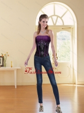2015 New Style Multi Color Strapless Corset with Beading ZYLJ08TZDFOR