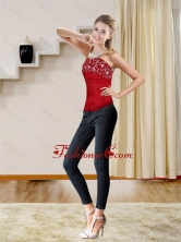 2015 New Style Red Strapless Corset with Embroidery QDZY230TZDFOR