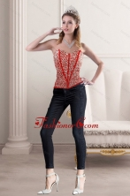 2015 New Style Strapless Corset with Beading and Appliques XFNAO5781TZDFOR