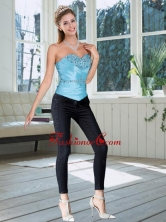2015 New Style Sweetheart Baby Blue Corset with Beading QDZY735TZDFOR