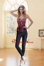 2015 Spring Discount Beading Multi-Color Corset for Sweet 16 XFNAOA16TZCFOR