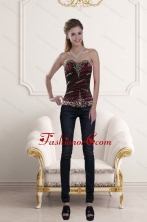 2015 Sweetheart Multi Color Corset with Ruffles and Beading XFNAO5800TZDFOR