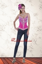 2015 Sweetheart Multi Color Prom Corset with Pick Ups and Embroidery XFNAOA53TZCFOR