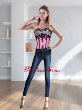 Cute Zebra Printed Multi Color Corset with Embroidery  QDZY028TZDFOR