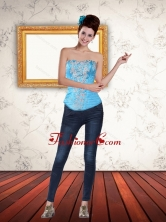 Elegant Multi Color  Strapless 2015 Corset with Beading PDZY471TZDFOR