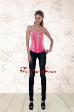 Famous Sweetheart Corset in Organza with Appliques  XFNAO060TZDFOR