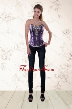 High Fashion Corset with Embroidery and Beading XFNA020OTZDFOR