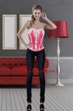 Hot Pink Sweetheart 2015 Pretty  Corset with Pick Ups and Embroidery XFNAOA58TZCFOR
