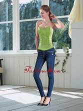 Wonderful Fitted Multi-color Sweetheart Corset with Appliques XFNAO5786TZCFOR