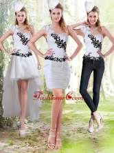 2015 Column Sweetheart Detachable Prom Skirts with Black Appliques ZY734TZB1FOR