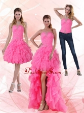 2015 Detachable Strapless Prom Skirts with Beading and Ruffled Layers PDZY724TZB1FOR