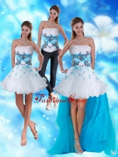 2015 Strapless Detachable Prom Skirts with Appliques and Beading TXFD09030137TZB1FOR