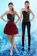 2015  Sweetheart Multi Color Detachable Prom Skirts with Beading and Ruffles XFNAO787TZB1FOR