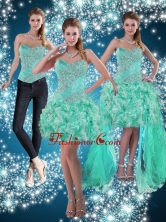 Apple Green Sweetheart Beading Detachable Prom Skirts for 2015 ZY791TZB1FOR