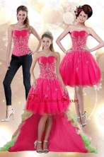 Detachable 2015 High Low Appliques Strapless Prom Skirts XFNAO209TZB1FOR