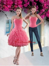 Detachable 2015 Strapless Watermelon Prom Skirts with Beading and Ruffles XFNAO744TZB1FOR