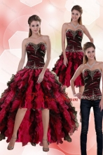 Detachable  2015 Sweetheart Multi Color Prom Skirts with Beading and Ruffles XFNAO5800TZB1FOR