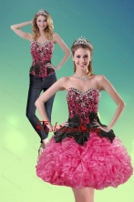 Detachable 2015 Sweetheart Multi Color Prom Skirts with Ruffles and Beading XFNAOA16TZB1FOR