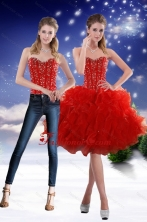 Detachable 2015 Sweetheart Red Prom Skirts with Beading and Ruffles XFNAO5793TZB1FOR