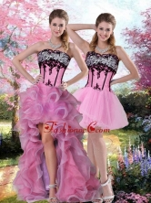 Detachable Embroidery 2015 Knee Length Prom QDZY028TZB1FOR in Multi Color QDZY028TZB1FOR
