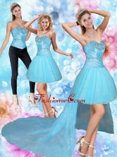Detachable High Low Sweetheart Beading Prom Skirts QDZY735TZB1FOR