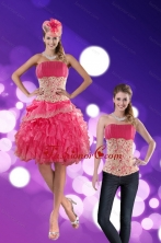 Detachable Strapless 2015 Prom Skirts with Appliques and Ruffles XFNAO501TZB1FOR