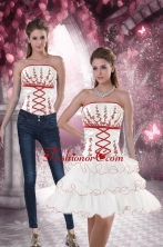 Detachable Strapless 2015 Prom Skirts with Embroidery and Ruffled Layers XFNAO415TZB1FOR