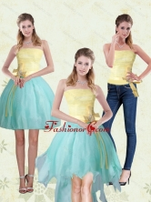 Detachable Strapless High Low 2015 Prom Skirts with Bowknot MLXNHY05TZB1FOR