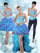 Detachable Strapless High Low Ruffles 2015 Prom Skirts in Multi Color PDZY471TZB1FOR