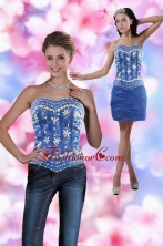 Detachable  Sweetheart 2015 Mini Length Prom Skirts with Appliques XFNAO881TZB1FOR