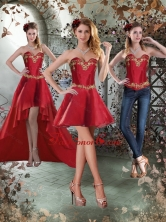 Detachable Sweetheart Embroidery Short Prom Skirts for 2015 ZY775TZB1FOR