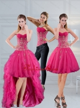 Detachable Sweetheart Hot Pink 2015 Prom Skirts with Appliques QDZY209TZB1FOR