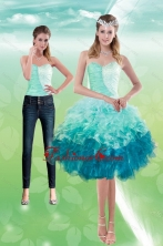 Detachable  Sweetheart Multi Color 2015 Prom Skirts with Beading and Ruffles XFNAO5640TZB1FOR