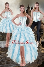 Detachable Sweetheart 2015 Prom Skirts with Appliques and Ruffles XFNAO056TZB1FOR