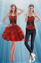 Multi Color Sweetheart Detachable Prom Skirts with Appliques and Ruffles XFNAOA32TZB1FOR