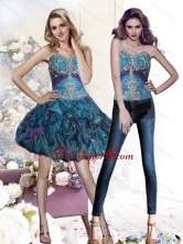 2015 Detachable Appliques and Pick Ups Multi Color Prom Dresses SJQDDT26004FOR