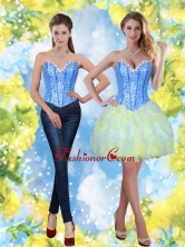 2015 Detachable Short Sweetheart Beading and Ruffles Prom Dresses SJQDDT21004-1FOR