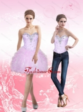 2015 Detachable Sweetheart Short Prom Dresses with Beading and Ruffles SJQDDT8004FOR