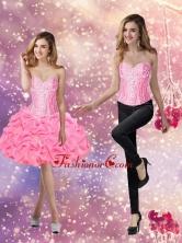 Artistic 2015 Ball Gown Knee Length Beaded Prom Dress SJQDDT61004FOR