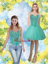 Detachable 2015 Beading and Appliques Sweetheart Prom Dress in Turquoise QDDTA69004FOR