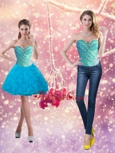 Detachable Beading and Ruffles 2015 Short Prom Dresses in Baby Blue SJQDDT14004FOR