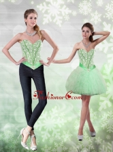 Detachable Beading and Ruffles Apple Green Prom Dress for 2015 QDDTA68004FOR